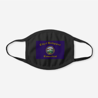 Bridgeport, Connecticut Flag Cotton Face Mask