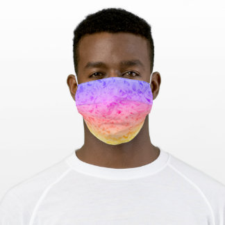 BRIGHT AND CHEERY/MULTI-COLORED/PURPLE PINK ORANGE ADULT CLOTH FACE MASK