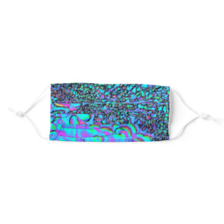 Bright blue science adult cloth face mask