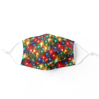 Bright Cheerful Christmas Lights Adult Cloth Face Mask