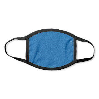Bright Cobalt Blue Faux Leather Monogrammed Face Mask