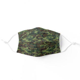 Bright Green Hunting Camouflage Pattern Adult Cloth Face Mask