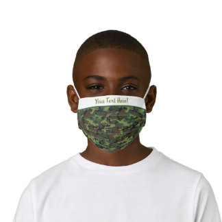 Bright Green Hunting Camouflage Pattern Kids' Cloth Face Mask