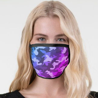 Bright Purple & Blue Face Mask