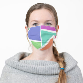 Bright stained glass effect color facemask adult cloth face mask