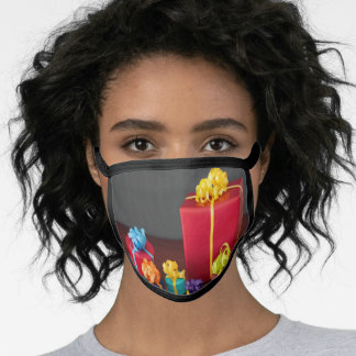 Brightly Colored Christmas Gift Boxes Face Mask