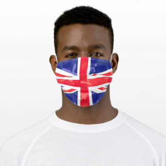 British UK Flag with Camouflage Camo Pattern Adult Cloth Face Mask