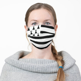 Brittany flag country symbol nation ethnic france adult cloth face mask