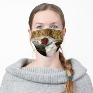 Brittany Spaniel - Classic Hunting Dog Adult Cloth Face Mask