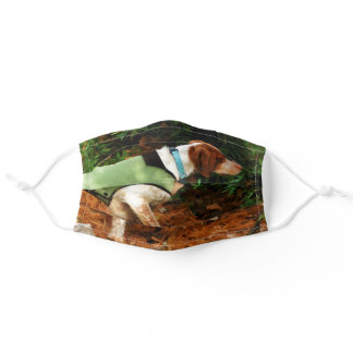 Brittany Spaniel Pointing Adult Cloth Face Mask