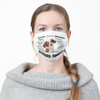 Brittany Spaniel Traits Adult Cloth Face Mask