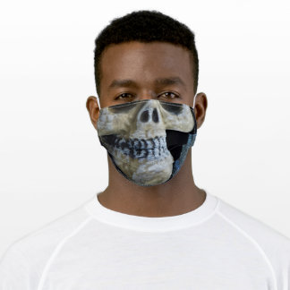 Broken Faded Skull Lost in Time Adult Cloth Face Mask