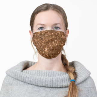Bronze Sequin Effect Face Mask