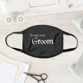 Brother of the Groom Wedding Face Mask