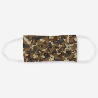 Brown Camo Adult Cloth Face Mask