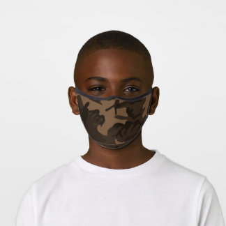 Brown Camouflage Premium Face Mask