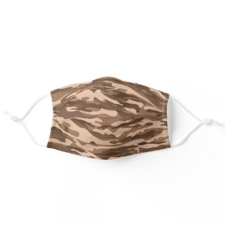 Brown Desert Camo Soldier Pattern Adult Cloth Face Mask