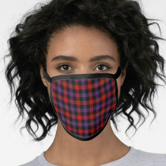 Brown Modern Tartan Plaid Face Mask