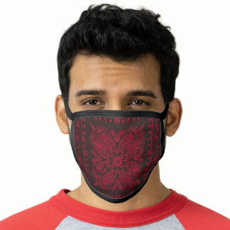 Brown Paisley Print Bandana Face Mask
