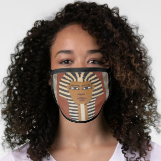 Brown Pharaoh Artisan Crochet All Over Print Face Mask
