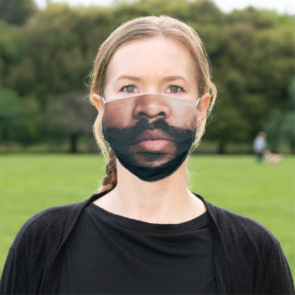 Brown Skinned Beard | Funny Mens Adult Cloth Face Mask
