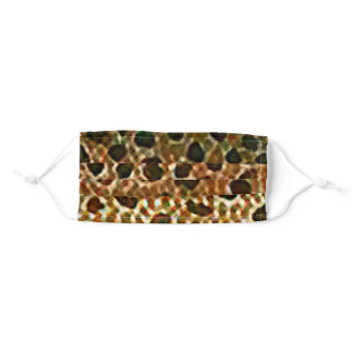 Brown Trout Fish Skin Print Adult Cloth Face Mask