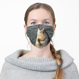 Brown Trout Fishing Adult Cloth Face Mask