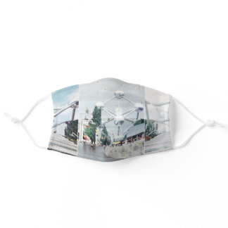 Brussels Atomium Photo Collage Adult Cloth Face Mask