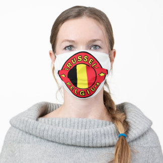 Brussels Belgium Adult Cloth Face Mask