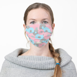 Bubble Gum Circle Origami Pastel Pattern Adult Cloth Face Mask