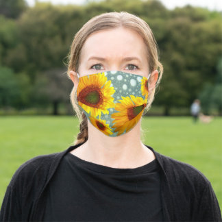 Bubbly Sunflowers Adult Cloth Face Mask