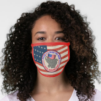 Buck The Mob Vote Republican Face Mask