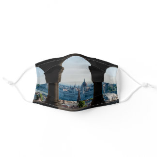 Budapest and hungarian parliament adult cloth face mask