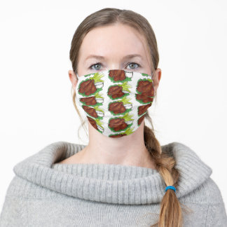 Buffalo New York BBQ Chicken Wings Celery Sticks Adult Cloth Face Mask