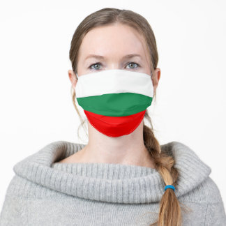 bulgaria country flag symbol nation adult cloth face mask