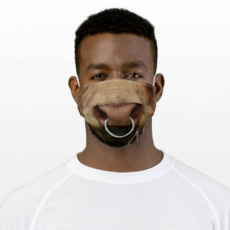 Bull's Nose - Mouth - Funny - Cool Adult Cloth Face Mask
