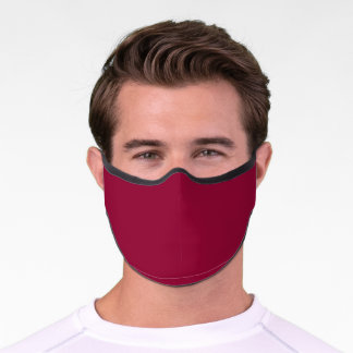 Burgundy Solid Color Customize It COVID19 Premium Face Mask