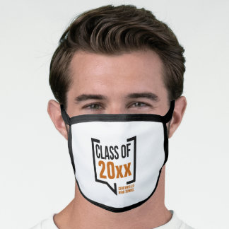 Burnt Orange Class Year Speech Bubble Face Mask