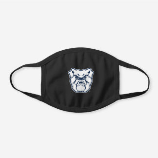 Butler University Bulldog Logo Black Cotton Face Mask