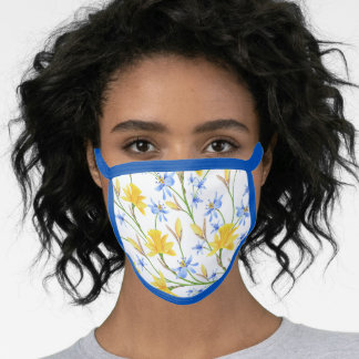 Buttercups and cornflowers face mask