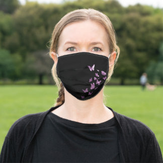 Butterflies, Butterfly, Birthdays Gift, Purple Adult Cloth Face Mask