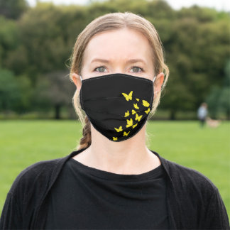 Butterflies, Butterfly, Birthdays Gift, Yellow Adult Cloth Face Mask