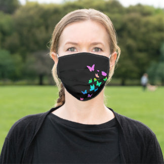Butterflies, Rainbow Butterfly, Gift Birthday Adult Cloth Face Mask