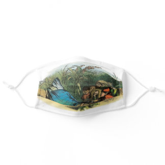 Butterfly and the Elves Cute Drawing Adult Cloth Face Mask