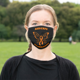 Butterfly/Awareness...RSD/CRPS Adult Cloth Face Mask