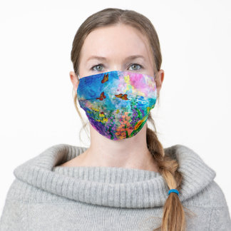 Butterfly Garden Adult Cloth Face Mask