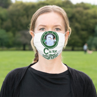 C is for Coffee(Version 1) Adult Cloth Face Mask