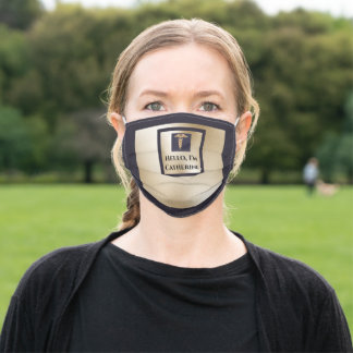 Caduceus gold navy healthcare professional name adult cloth face mask