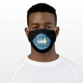 California Beach Surfing Los Angeles Adult Cloth Face Mask