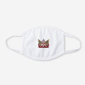 California Department of Corrections CRT White Cotton Face Mask